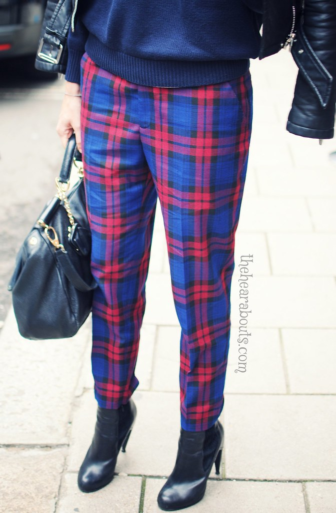 Plaid trousers LFW 2014