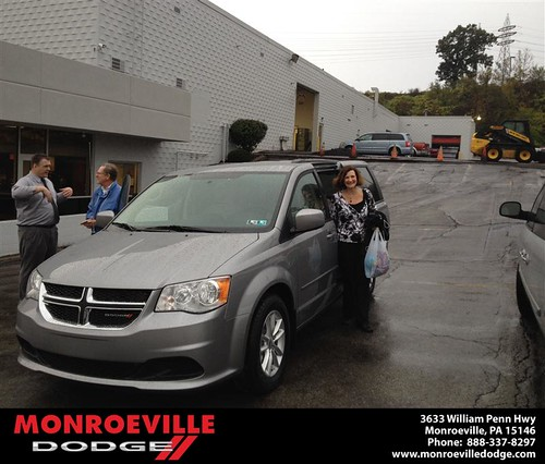 Thank you to Frances Silnutzer on your new 2014 #Dodge #Grand Caravan from Lara Paradise and everyone at Monroeville Dodge! #RollingInStyle by Monroeville Dodge