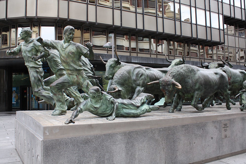 Bull running, Pamplona