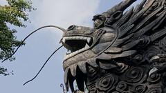 carving, art, sculpture, mythology, dragon, statue,