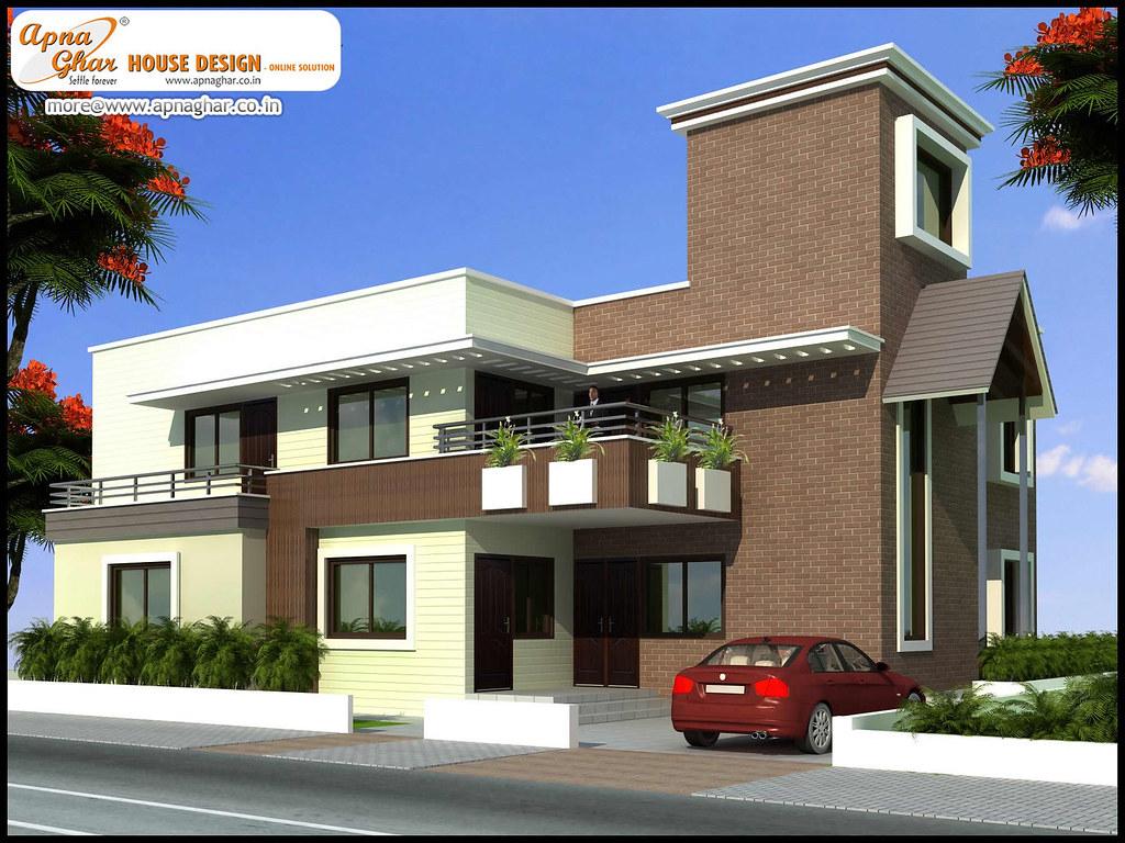 Superb 5 Bedrooms Duplex House Design Exterior Elevation