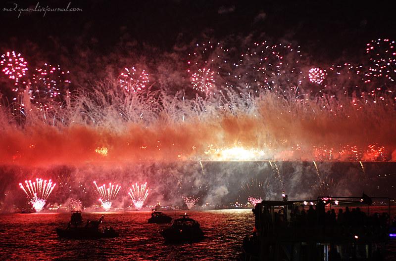 Istanbul fireworks show
