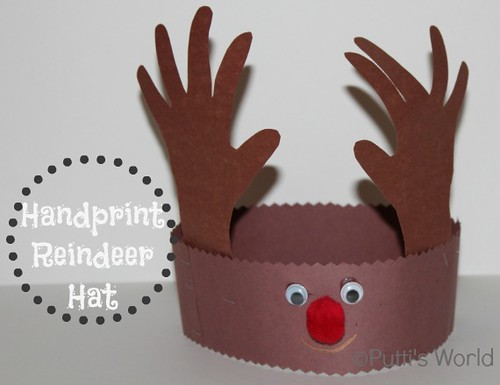 reindeer craft, reindeer crown craft, christmas crown