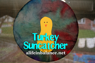 Thanksgiving Turkey Suncatcher Craft for Toddlers and Preschoolers
