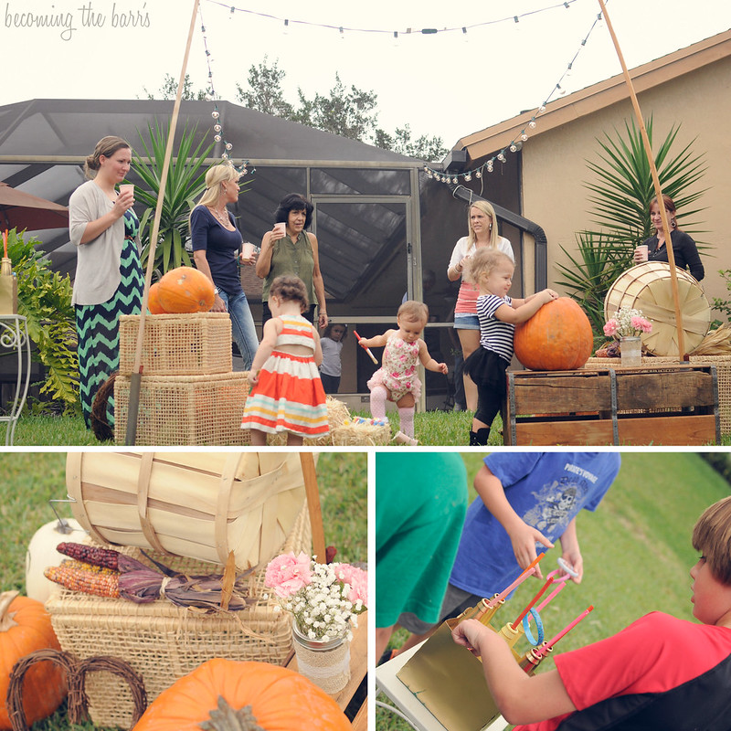 fall festival themed birthday party with games