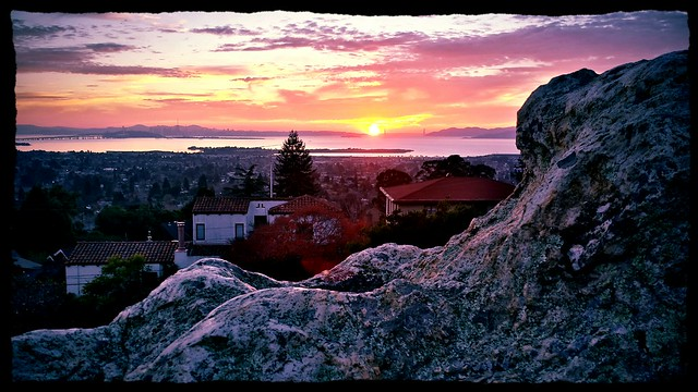 Sunset from a Rock in Berkeley