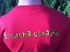 聞くスペイン語 Tシャツ 長袖