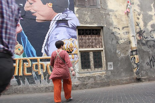 The Wall Shot By Street Photographer Nerjis Asif Shakir 2 Year Old by firoze shakir photographerno1