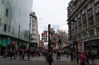 Aux abords de Leicester Square