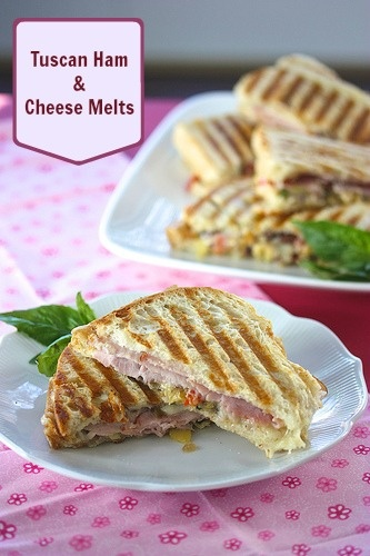 Tuscan ham & cheese melts via www.MealMakeoverMoms.com/kitchen