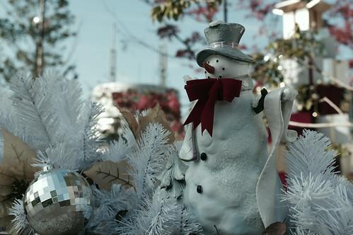 snowman stood