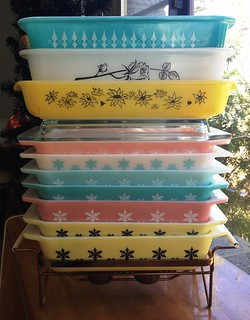JAJ, USA and Agee Pyrex Stack - Front