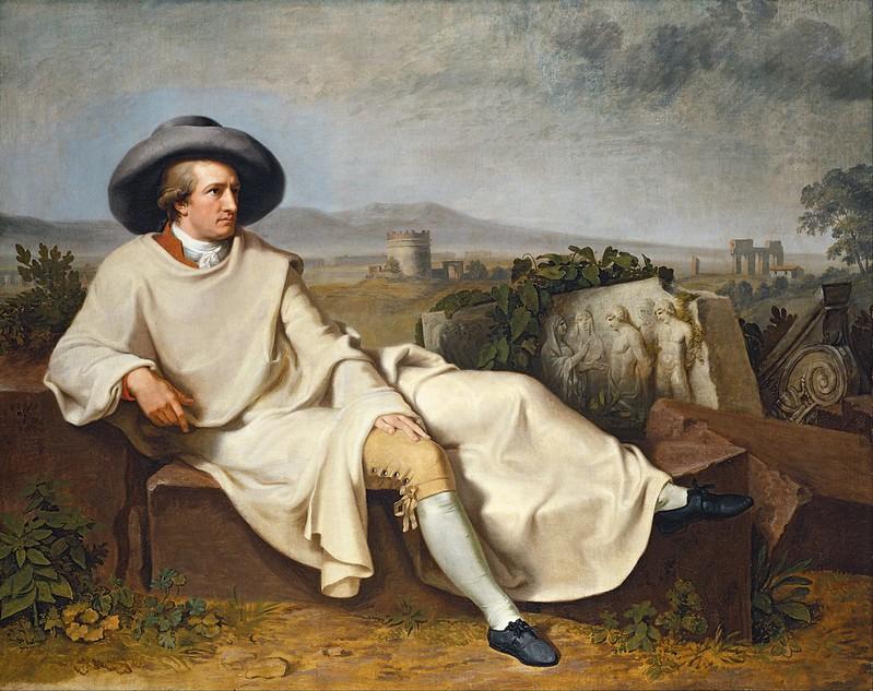 Johann Heinrich Wilhelm Tischbein - Goethe in the Roman Campagna (c.1787)