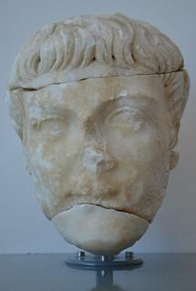 Head of Germanicus?, Archaeological museum Narona, Vid, Croatia