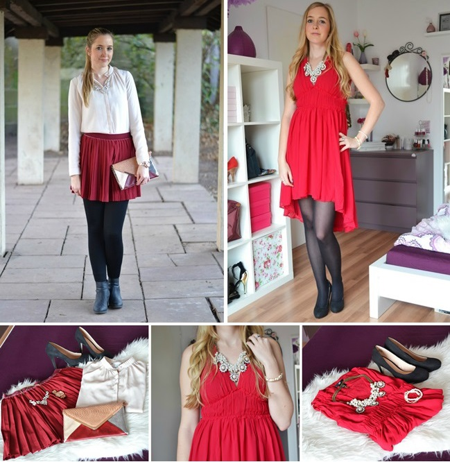 Outfit Weihnachten Collage