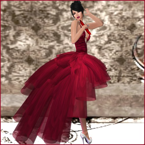 AsHmOoT_AW Coll_Samira 02_Gown Dress_Burgundy by Orelana resident