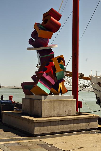 WBEZ Statue at Navy Pier in Chicago, Illinois