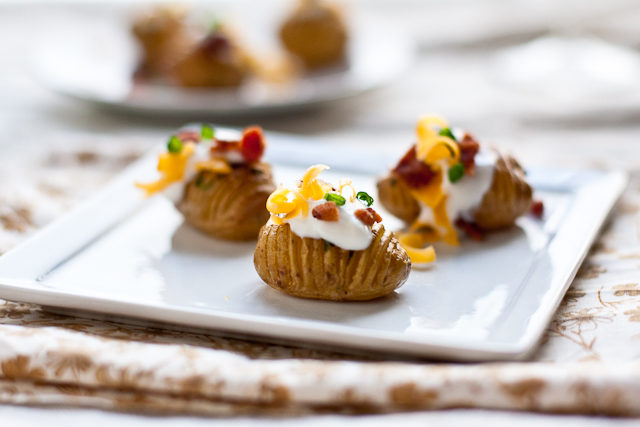 Loaded Hasselback Potato Bites