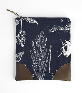 Botanical Print Fold Over Clutch