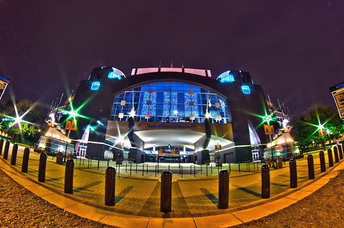 1st january, 2014, charlotte, nc, usa - night view of carolina panthers stadium by DigiDreamGrafix.com