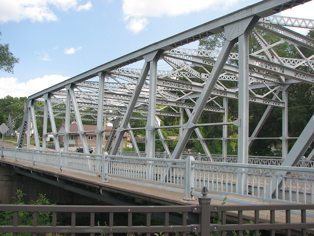Steel bridge over Duncan Creek, Chippewa Falls, WI