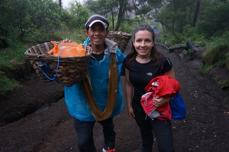 One of the local miners met on our hike to the Ijen crater rim
