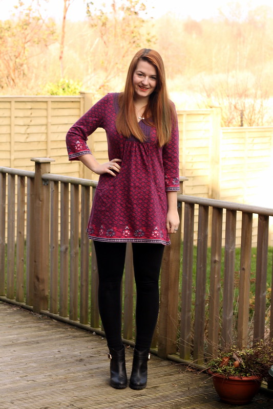 outfit, tunic with leggings