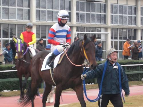 金沢競馬場の沖静男騎手の昔の勝負服