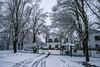 Nieve por Urbasa esta mañana
