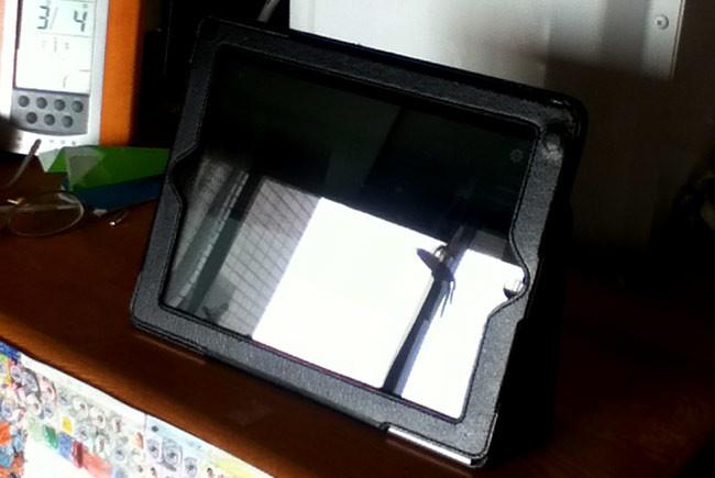 iPadを置く