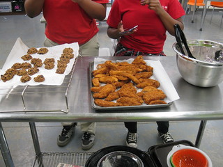 chefs on 3/15/14--fried chicken, coleslaw, oatmeal cookies