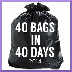 40 Bags in 40 Days button