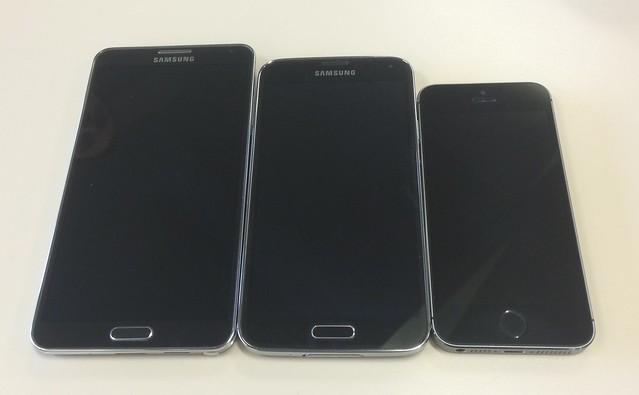 Smartphone size comparison