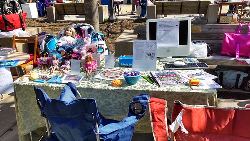 My Table at the 2014 Greenbelt Mini-Maker Faire, April 5, 2014