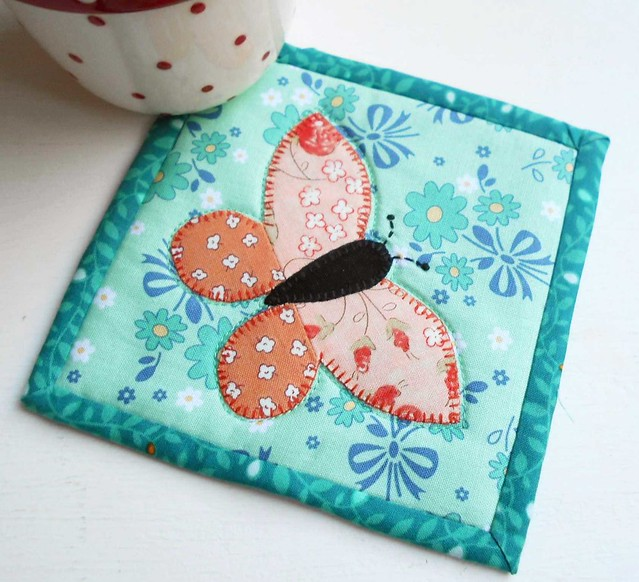 Butterfly Patch Coaster