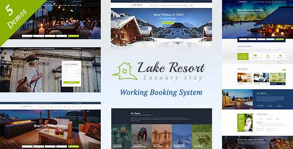 Lake Resort WordPress Theme free download