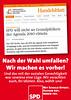 SPD-Wahlplakat: Umfallen