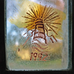 Rothwell, St Mary, Nickerson memorial window, maker's mark of Glenn Carter
