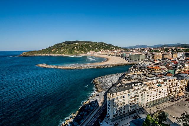 San Sebastián, Spain from Monte Urgull