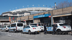 NYPD Police Patrol Cars near Yankee Stadium, The Bronx, New York City