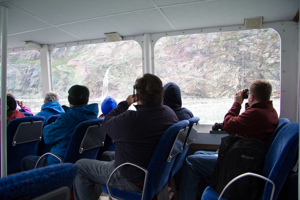 Small boat on Tracy Arm Fjord excursion | Alaska Cruise