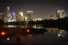 Austin skyline from boardwalk
