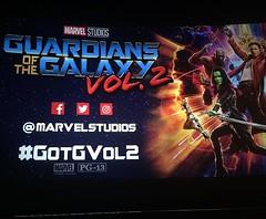 OMG, #GuardiansoftheGalaxy #Vol2 was amazing! I'll definitely see it again! Huge thank you to @jtd1003, @1003thepeak, @iheartmediaofficial, @MarvelStudios for this sneak peak! #GotGVol2
