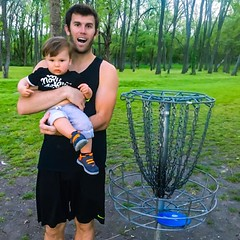 That moment (1-year ago) when Brodie Smith met Arian Jenkins!  #ArianJenkins #BrodieSmith #DiscGolfTrickShots