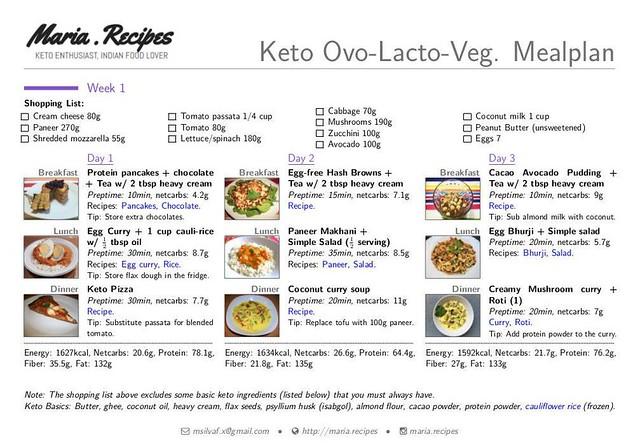 indian veg meal plan