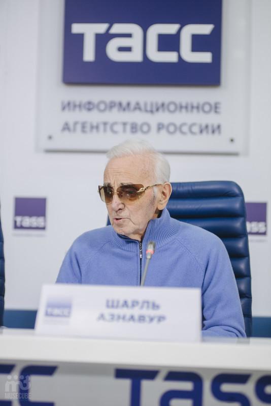 Шарль Азнавур пресс-конференция ТАСС (28)