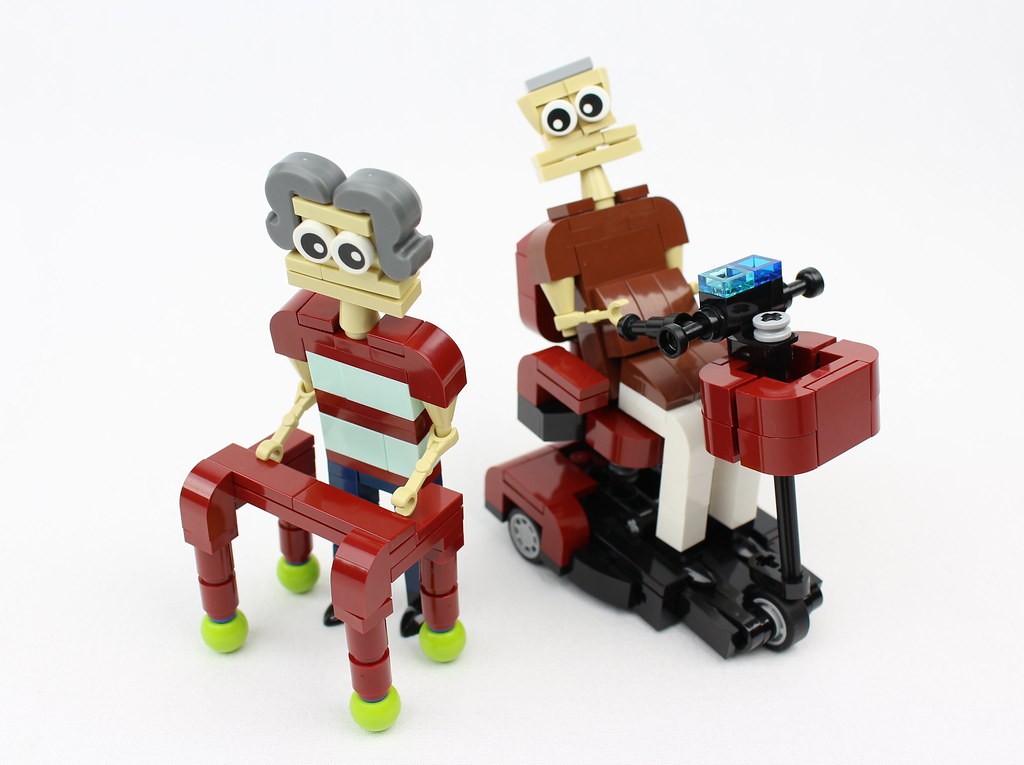 Walker and Mobility Scooter (custom built Lego model)