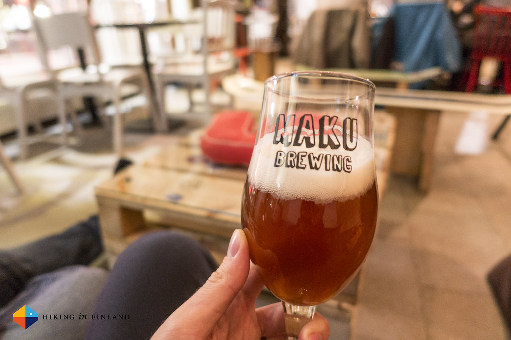Maku Brewing Beer at Hanki Baari