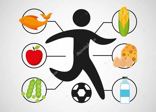 sport man soccer nutrition health