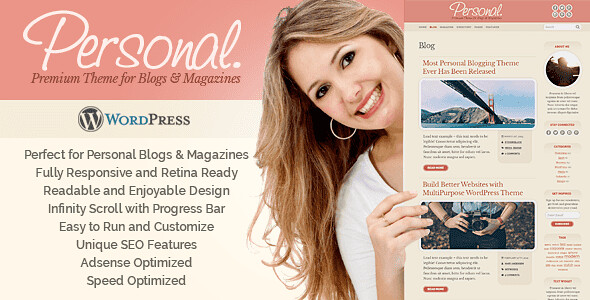Personal WordPress Theme free download